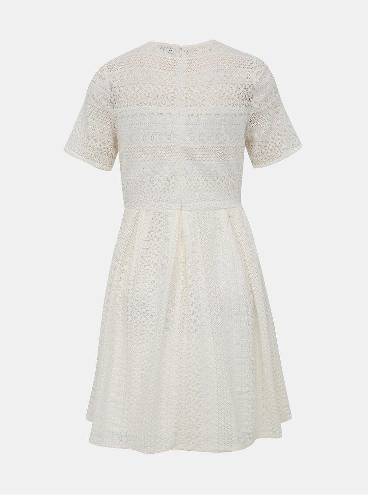 Biele krajkové šaty VERO MODA Honey