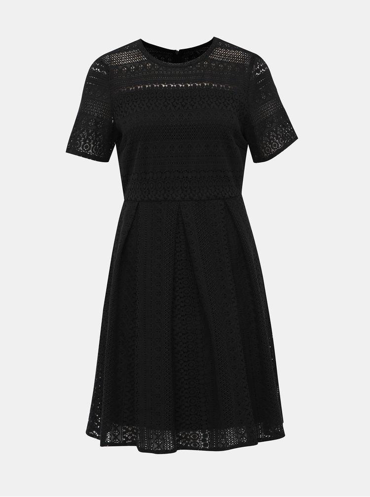 Čierne krajkové šaty VERO MODA Honey