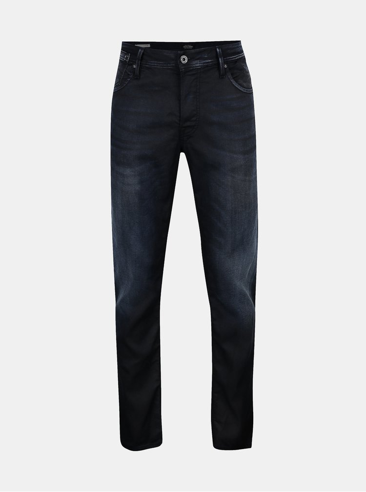 Blugi bleumarin cu aspect decolorat  Jack & Jones Tim