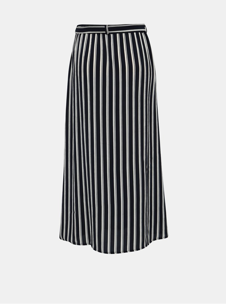 Tmavě modrá pruhovaná midi sukně VERO MODA Sasha