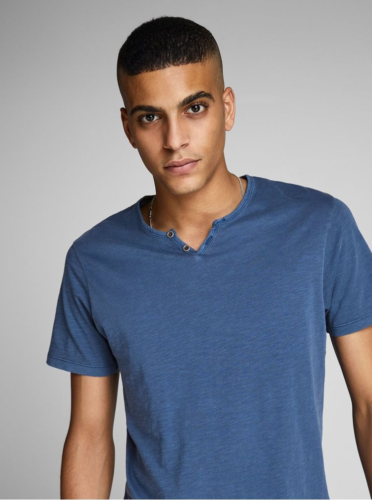 Modré tričko Jack & Jones Ben