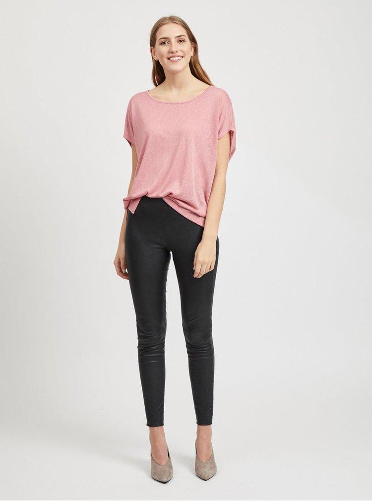 Ružové oversize tričko VILA Sumi