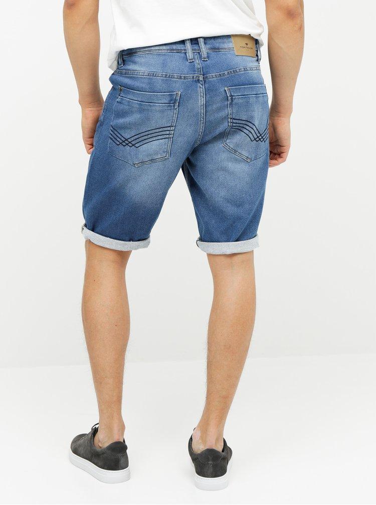 Pantaloni scurti barbatesti albastri slim fit Tom Tailor