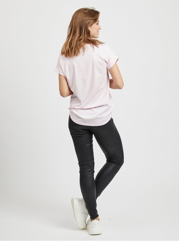 Světle růžové basic tričko VILA Dreamers