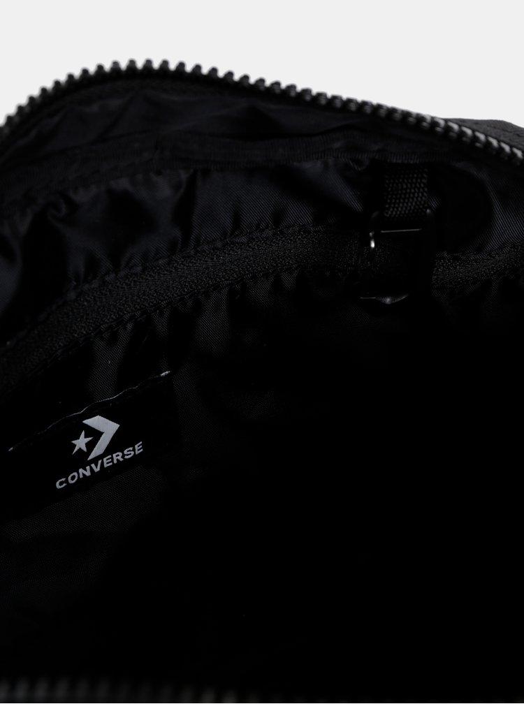 Čierna ľadvinka s potlačou Converse