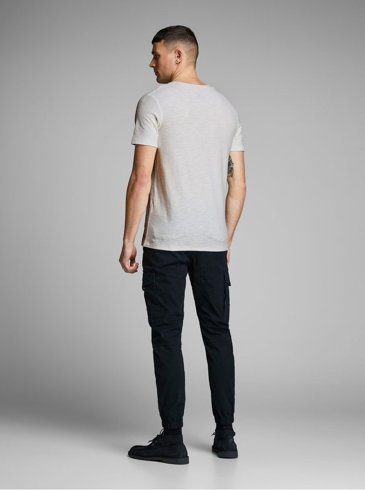 Tricou crem slim fit Jack & Jones Newpleo