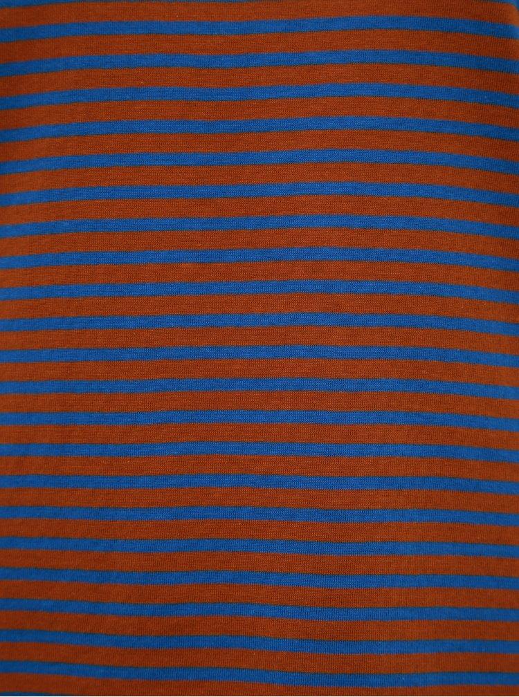 Modro-hnedé pruhované basic tričko Jacqueline de Yong Ditte