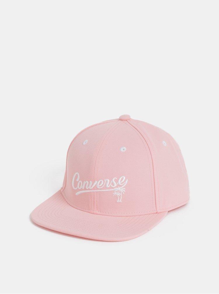Rúžová dámska šiltovka s výšivkou Converse