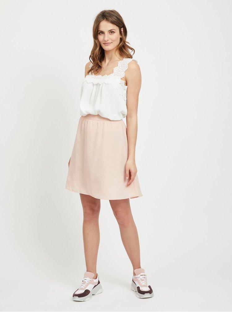 Růžová vzorovaná sukně VILA Lucy