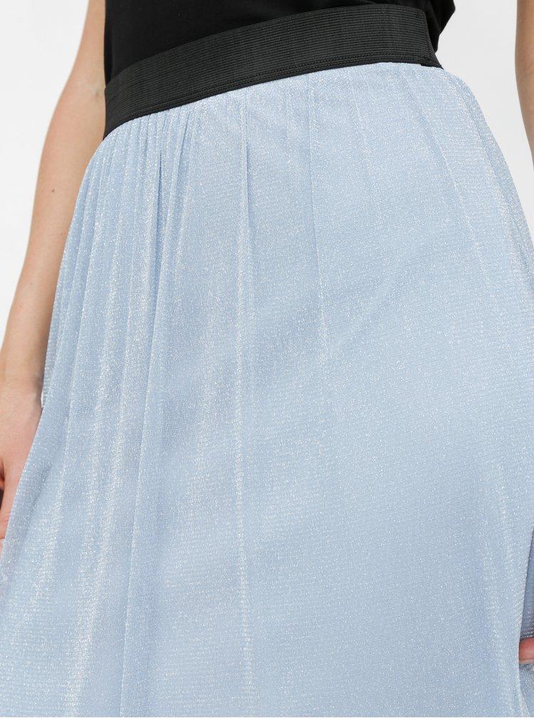Fusta albastra cu fibre metalice VERO MODA Aurora