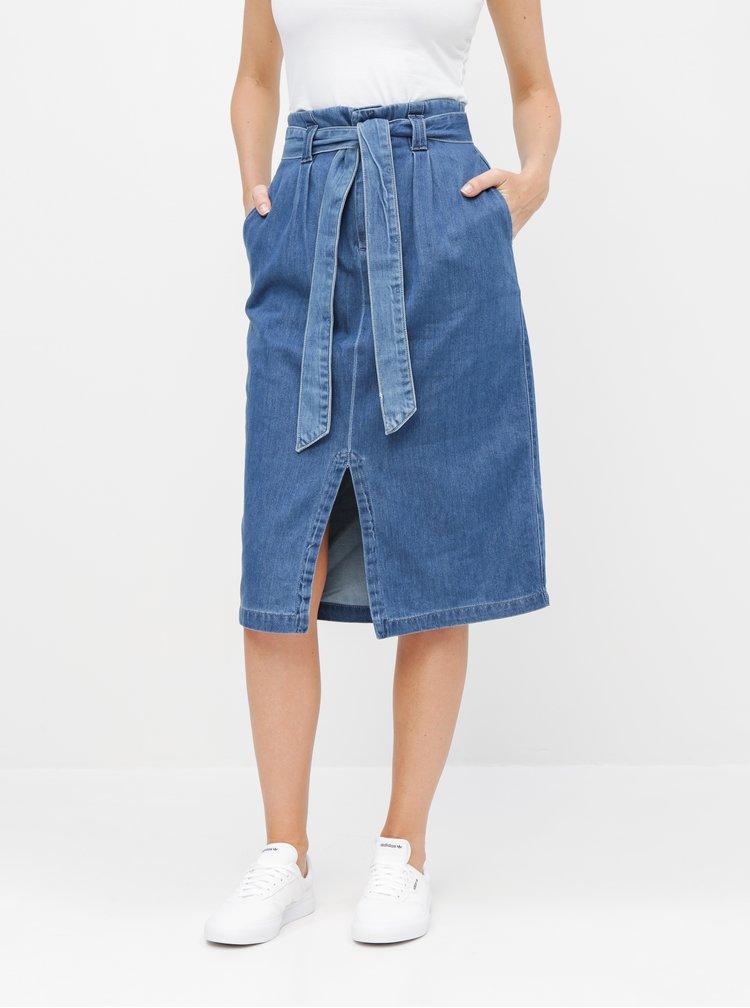 Modrá rifľová sukňa VERO MODA Vanessa
