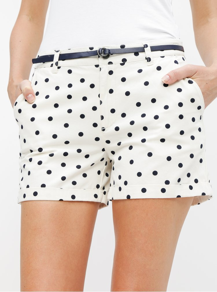 Pantaloni scurti crem chino cu buline Jacqueline de Yong Thilda