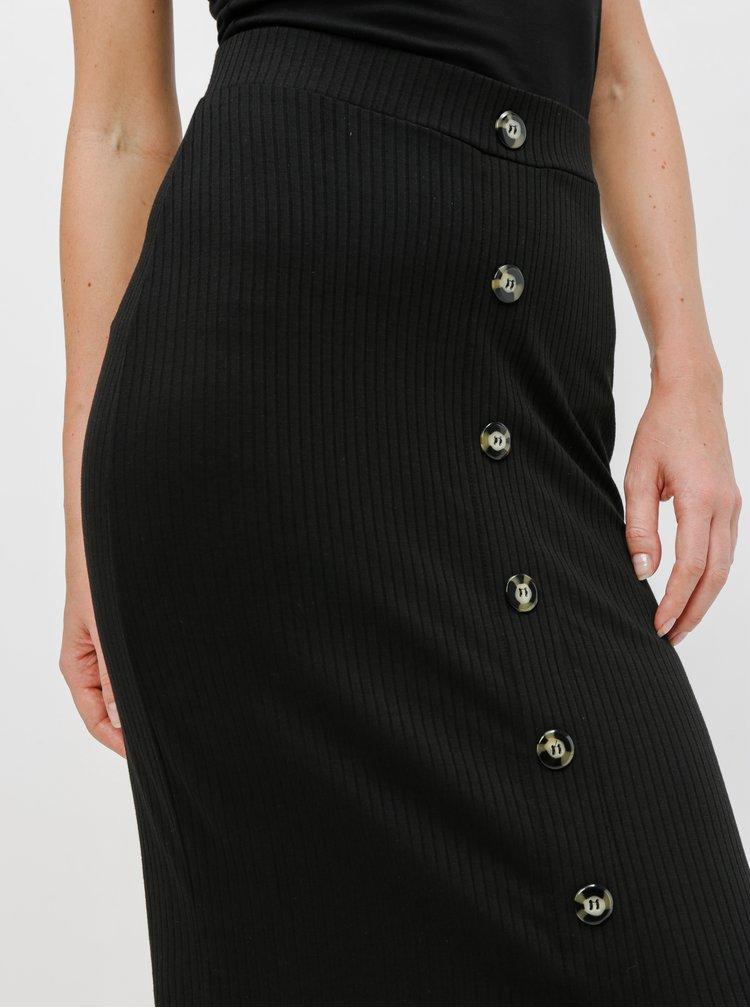 Černá pouzdrová sukně TALLY WEiJL