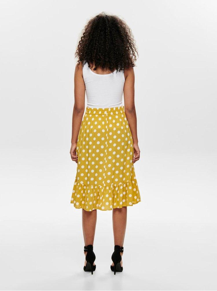 Žlutá puntíkovaná sukně Jacqueline de Yong Star