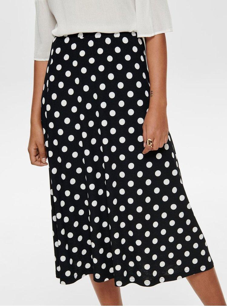 Černá puntíkovaná midi sukně Jacqueline de Yong Shilla