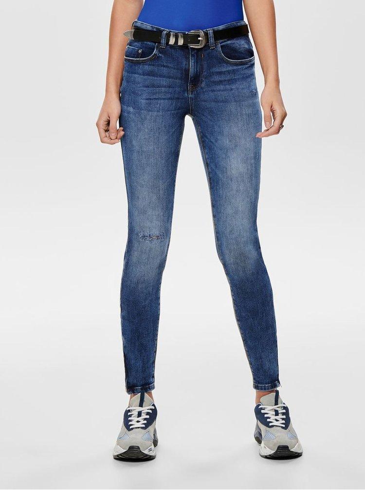 Modré skinny džíny Jacqueline de Yong Lauren