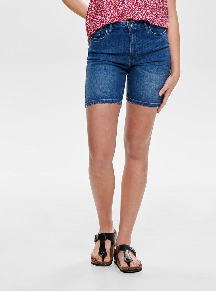 Pantaloni scurti albastri skinny din denim ONLY Corin