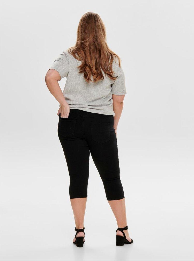 Černé 3/4 push up džíny ONLY CARMAKOMA Hunder