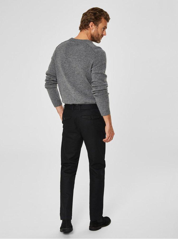 Čierne slim nohavice Selected Homme Carlo