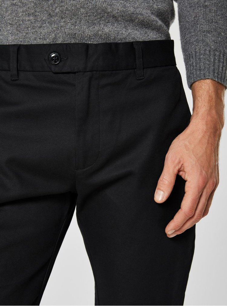 Pantaloni negri slim Selected Homme Carlo