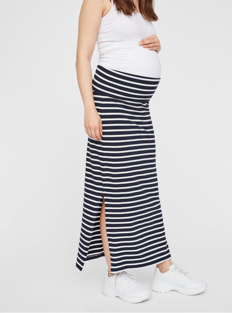 Modro-bílá pruhovaná těhotenská basic sukně Mama.licious Lea