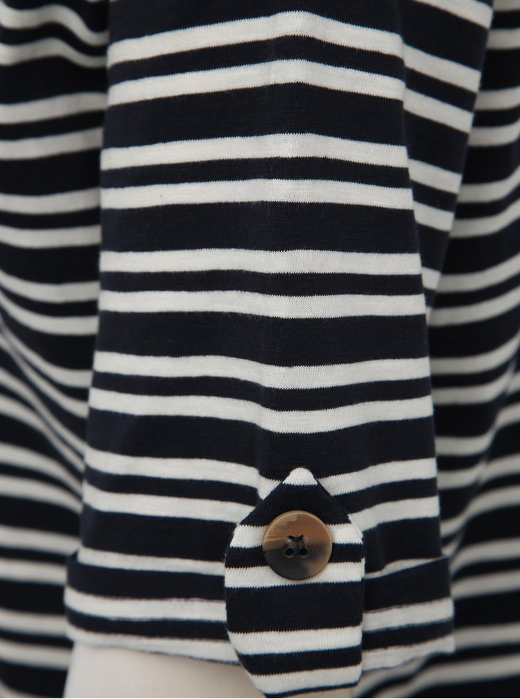 Tmavě modré pruhované tričko Jacqueline de Yong Lucky