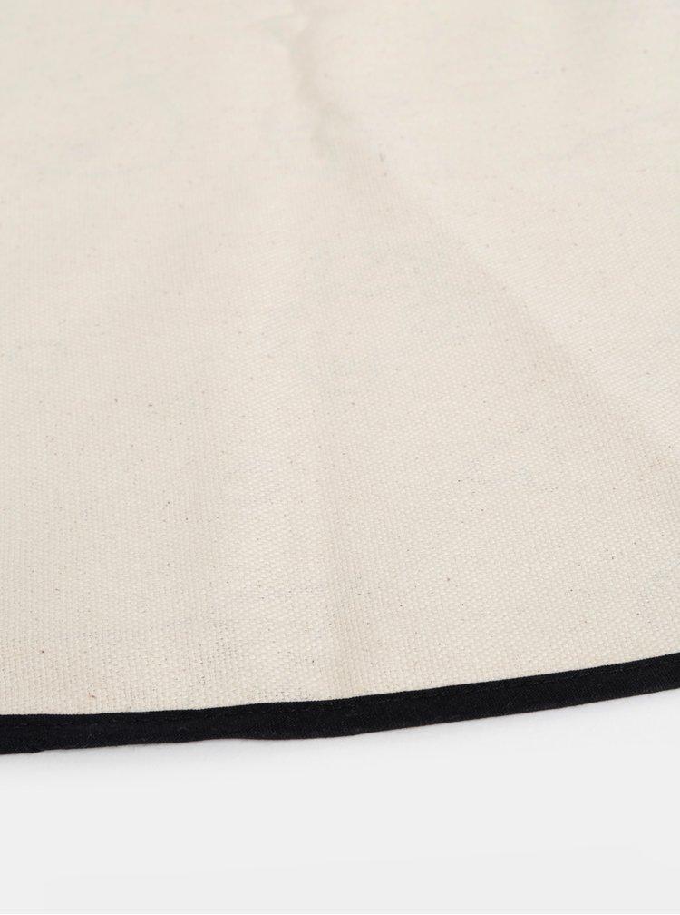 Béžová vzorovaná deka na hraní s fixy Butter Kings Colouring Canvas Rug