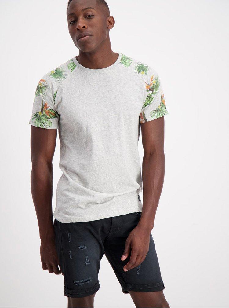 Šedé žíhané tričko Shine Original