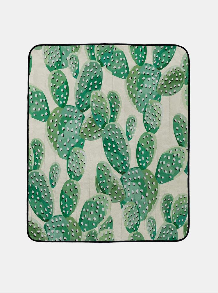 Zelená vzorovaná pikniková deka Butter Kings Picnic Blanket