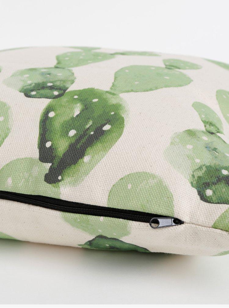 Zeleno-béžový polštář s motivem Butter Kings