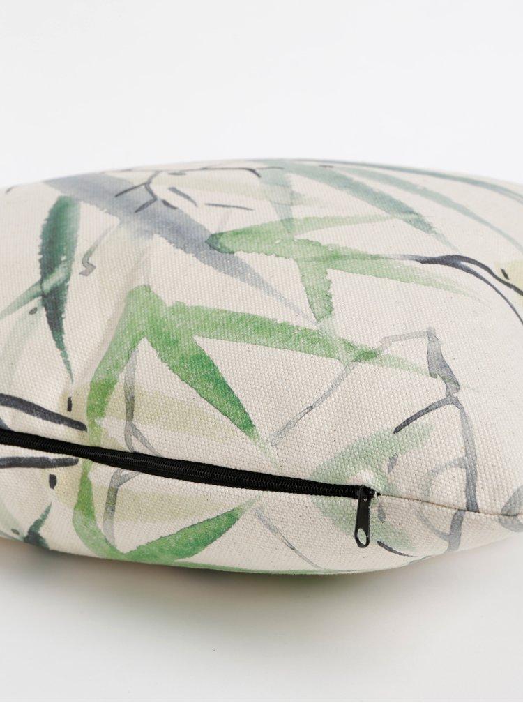 Zeleno-béžový vzorovaný polštář Butter Kings