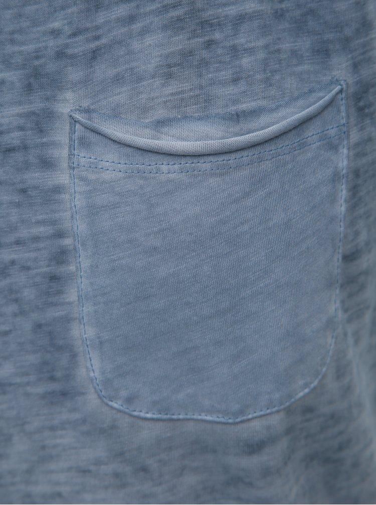 Modré žíhané tílko s náprsní kapsou Blend