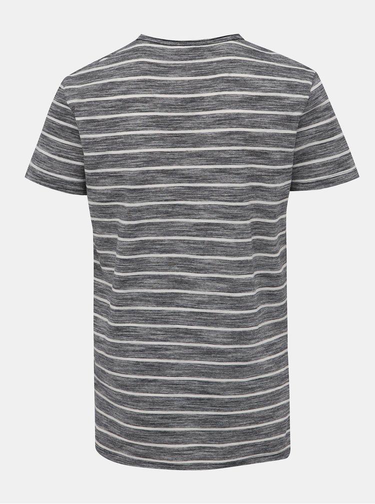 Bielo-čierne pruhované tričko Blend