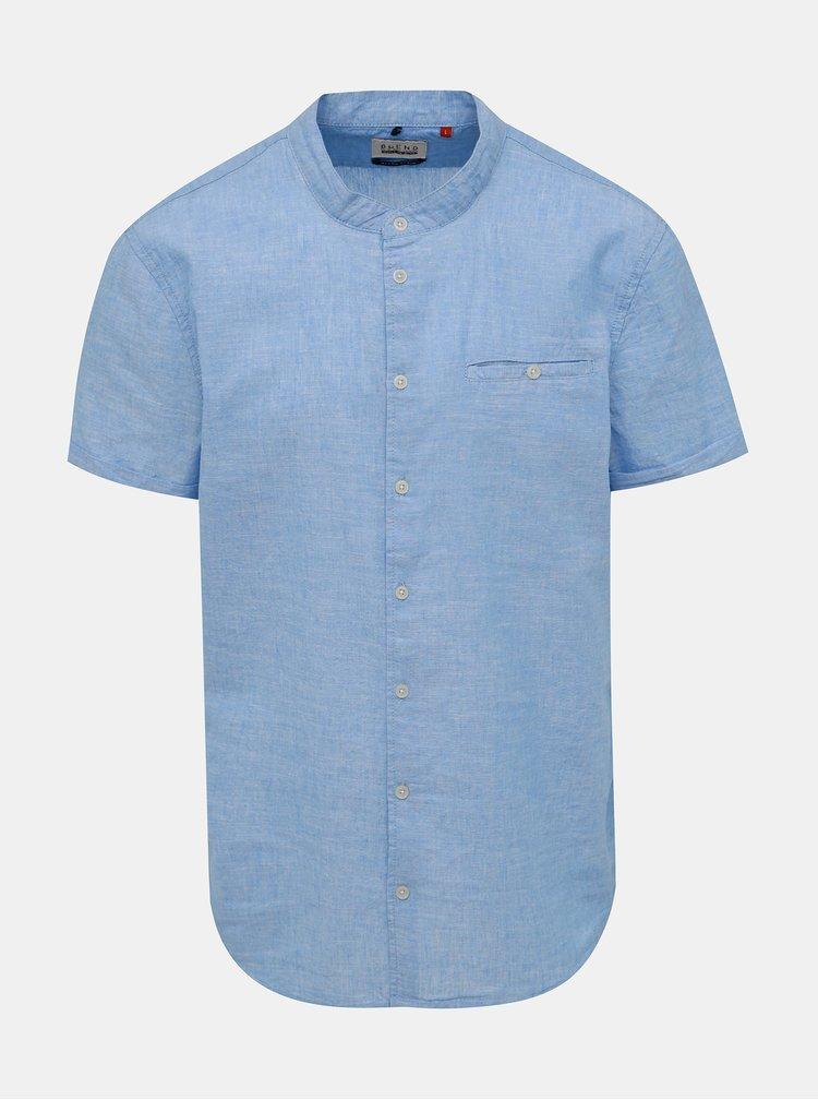 Světle modrá lněná košile Blend