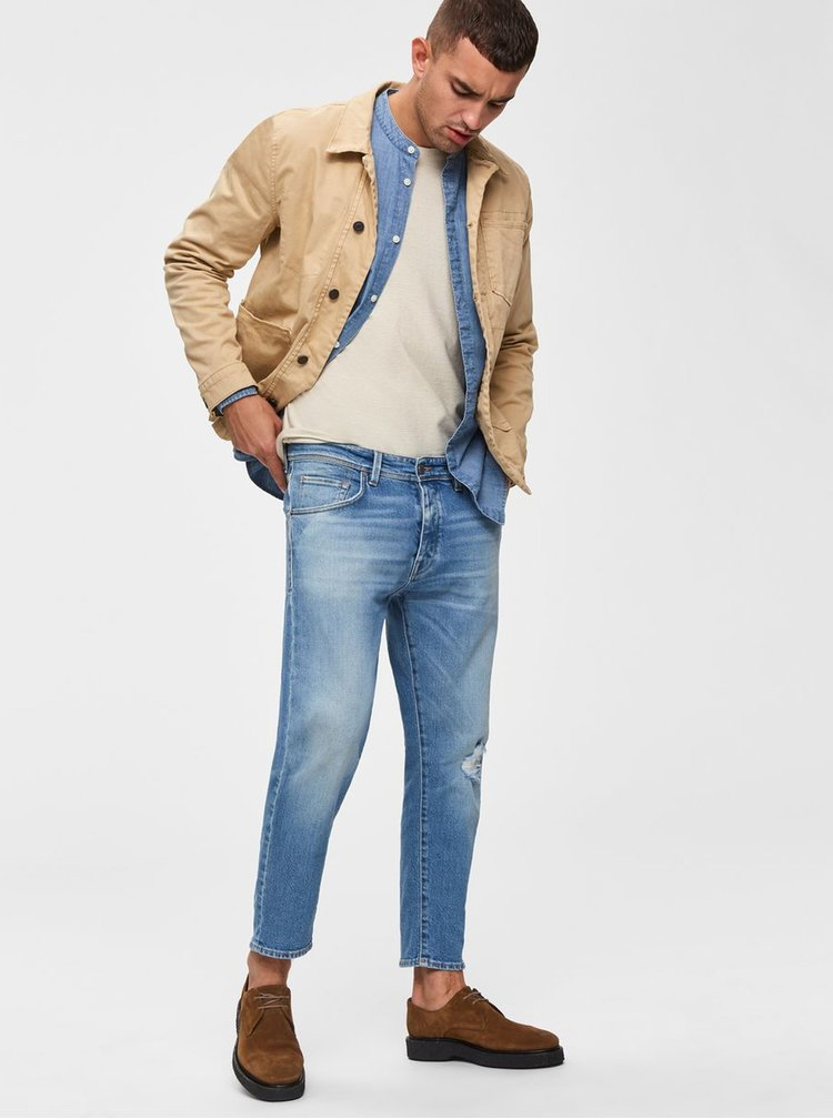 Modré special fit rifle Selected Homme Special Aldo