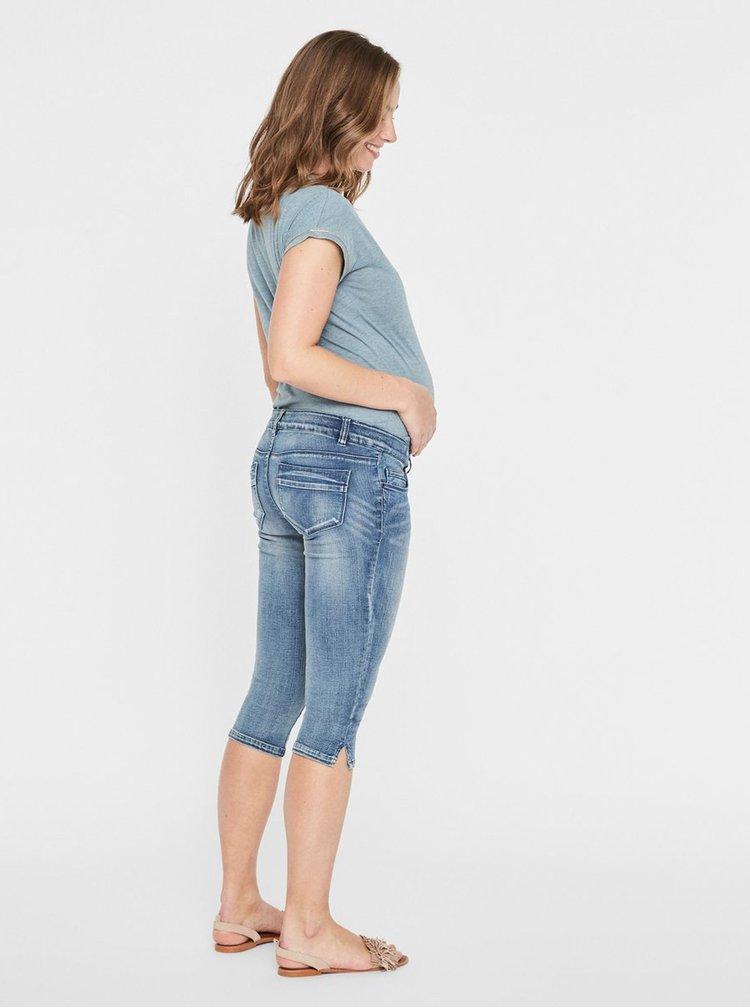 Modré těhotenské 3/4 slim fit džíny Mama.licious Golden