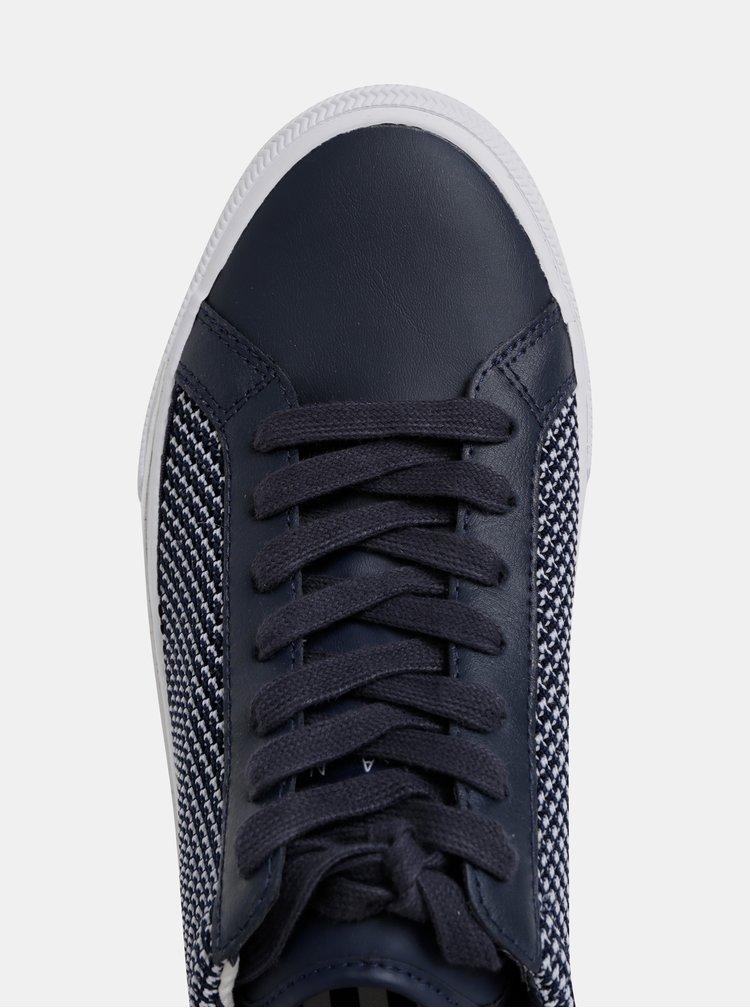 Tmavě modré pánské tenisky s koženými detaily Tommy Hilfiger