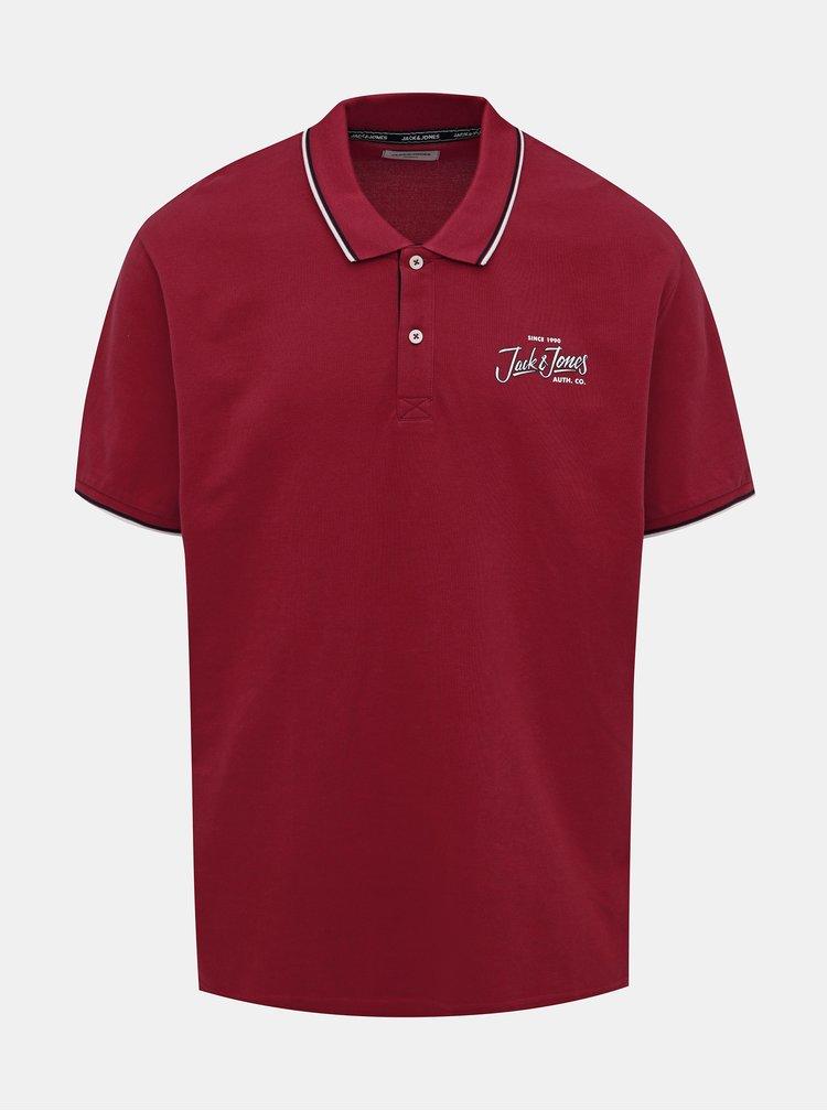 Červené polo tričko Jack & Jones Beams