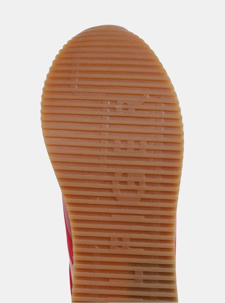 Červené dámské tenisky s koženými detaily Tommy Hilfiger