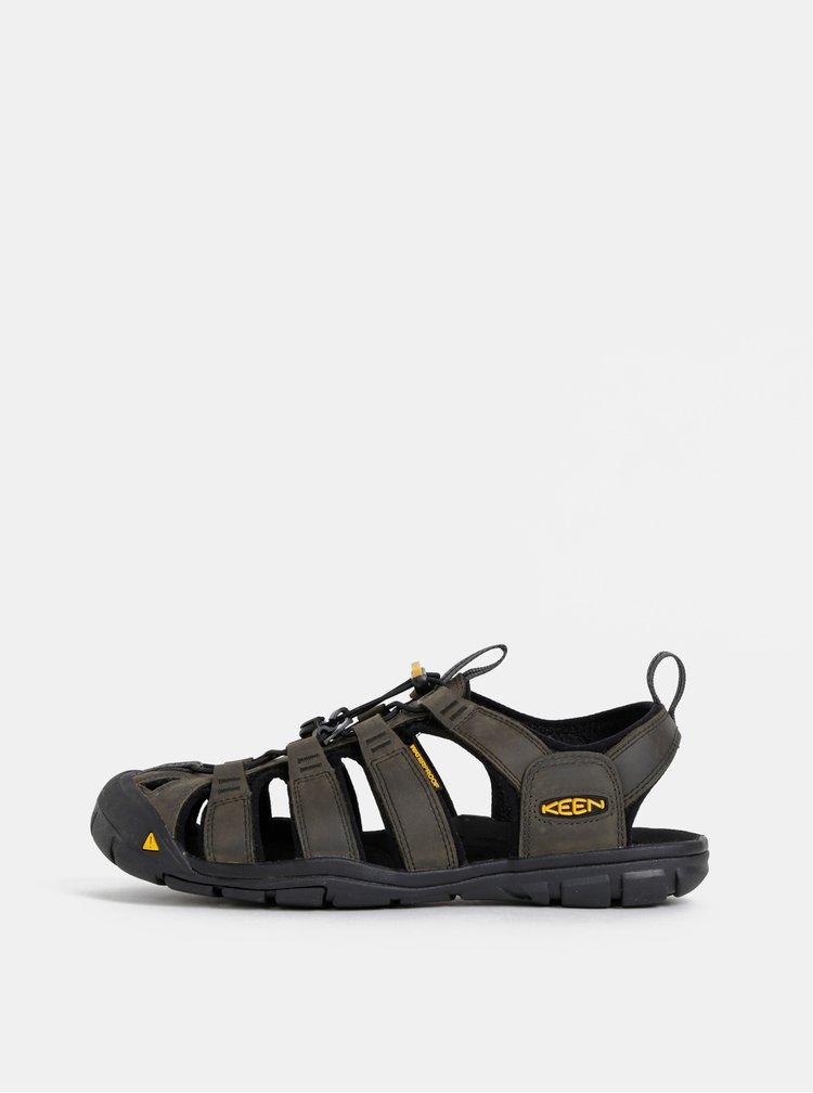 Khaki pánské kožené sandály Keen Clearwater CNX