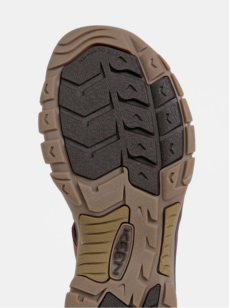 Hnědé pánské kožené sandály Keen Newport