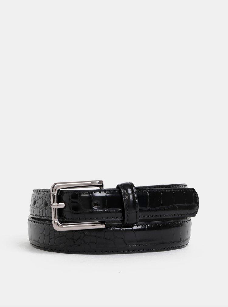 Černý pásek  s hadím vzorem Pieces Joan
