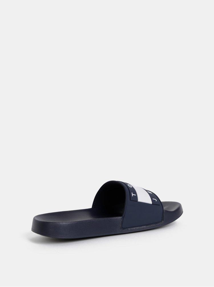 Tmavě modré pánské pantofle Tommy Hilfiger