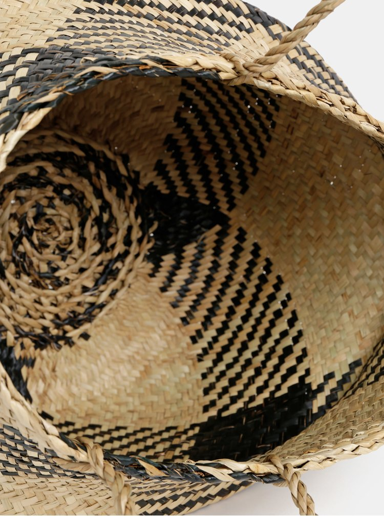 Béžový dekoratívny kôš  Sass & Belle
