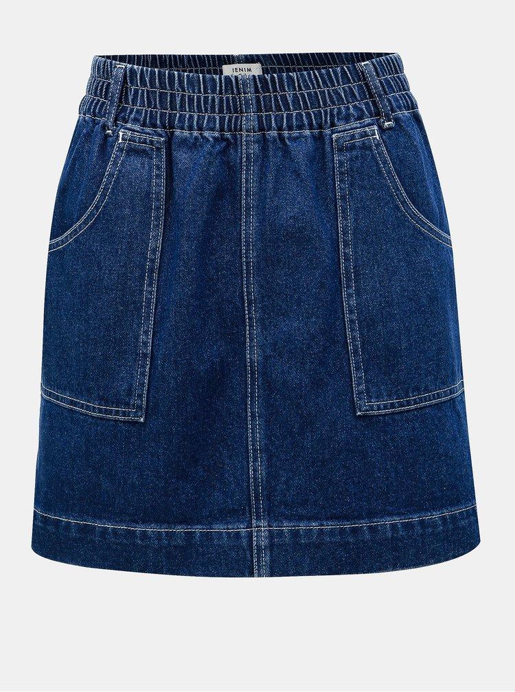 Fusta mini albastra din denim Miss Selfridge