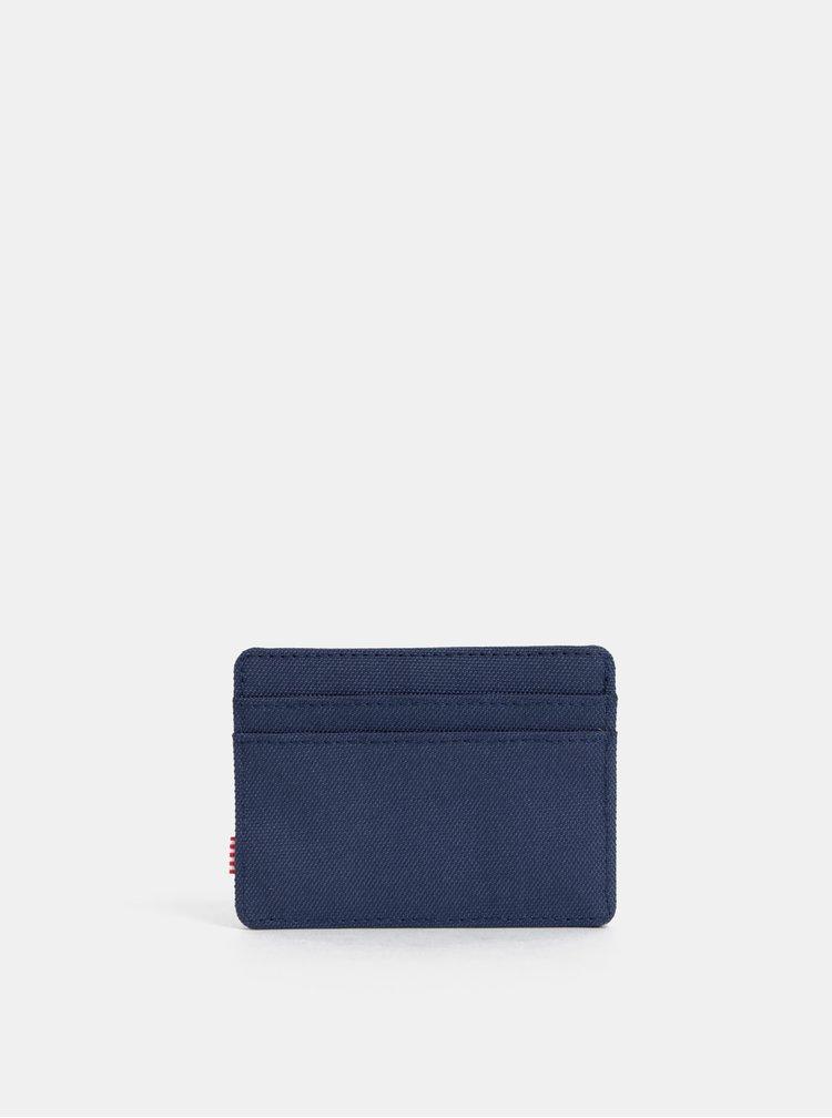 Tmavě modré pouzdro na karty Herschel Supply Charlie