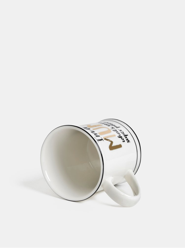 Krémový porcelánový hrnček Sass & Belle