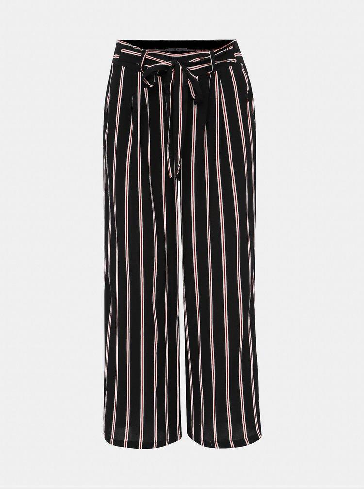 Čierne pruhované culottes Haily´s Conny