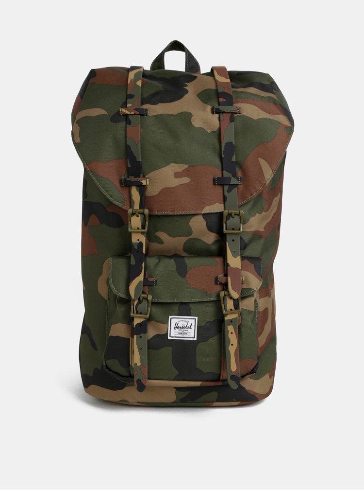 Khaki maskáčový batoh Herschel Supply Little America 25 l