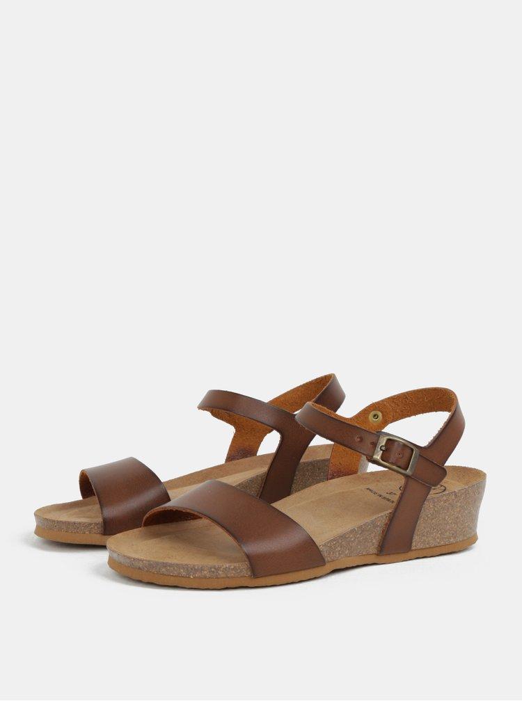 Hnědé sandály na klínku OJJU